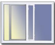 Fenêtre coulissante Simple