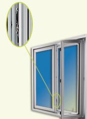 point d'ancrage sur fenêtre à battant EcoPlus