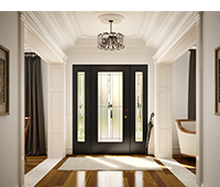 Porte avec vitraux modèle Whistler